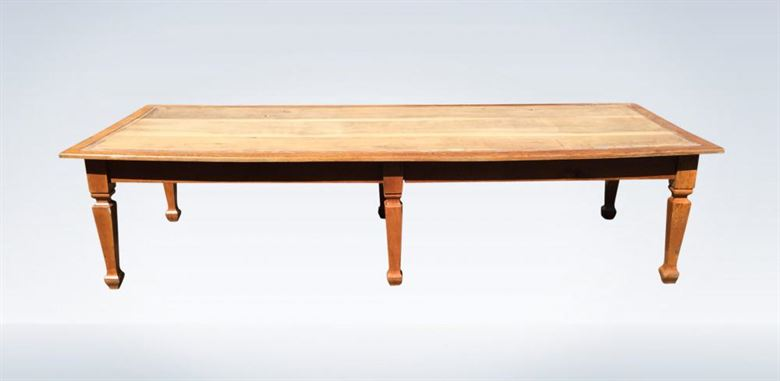 10ft Arts & Crafts Oak Library Desk Meeting Table