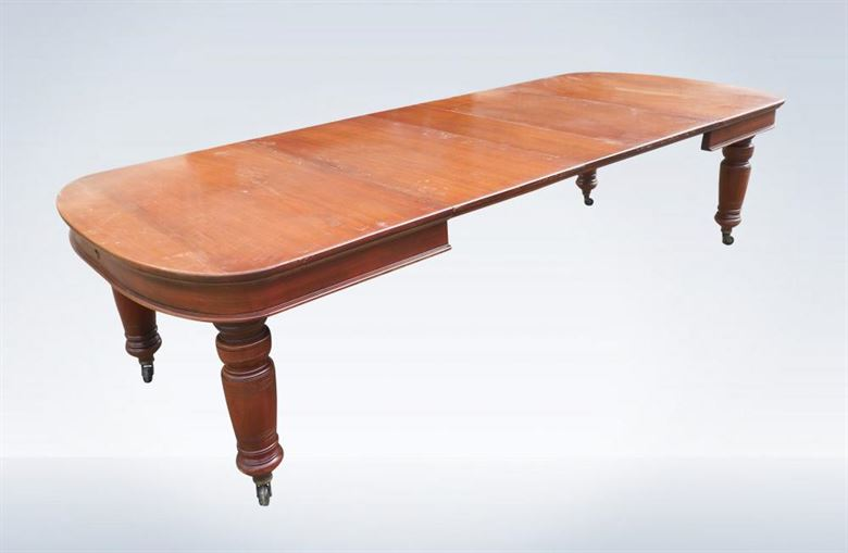 10ft Edwardian Period Walnut Extending Dining Table