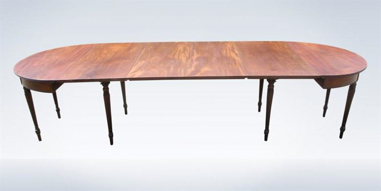 10ft Late Georgian Regency Period Mahogany Extending Dining Table