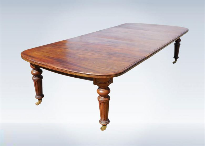 10ft Quality Large Original Victorian Antique Mahogany Dining Table Seat 14 People