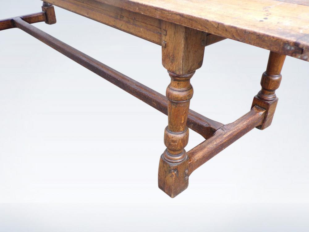 10ft Victorian Antique Oak Refectory Table