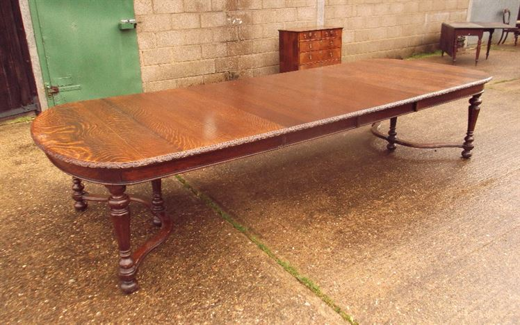 ANTIQUE FURNITURE WAREHOUSE - 12 Foot Antique Extending Dining Table ...