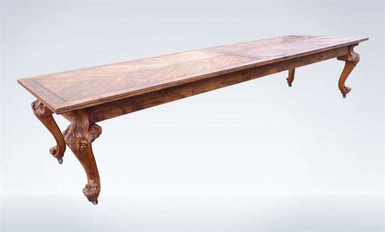 12ft French 19th Century Oak Dining Refectory Table