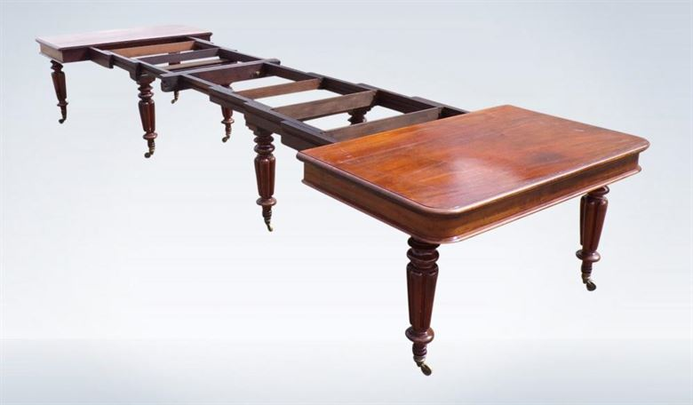Antique 16ft Regency Mahogany Dining Table Gillows Legs