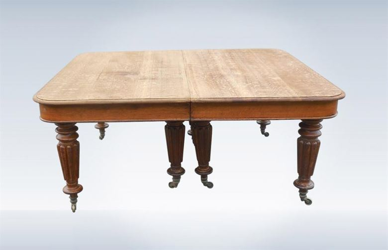 18ft Antique Oak Dining Table From Early 19th Century