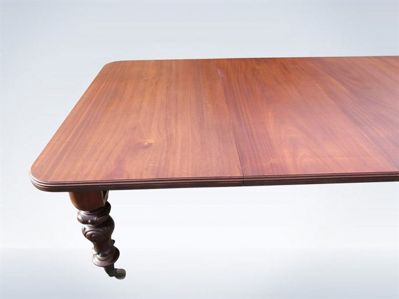 18ft Antique Victorian Mahogany Extending Dining Table Seat 22 People