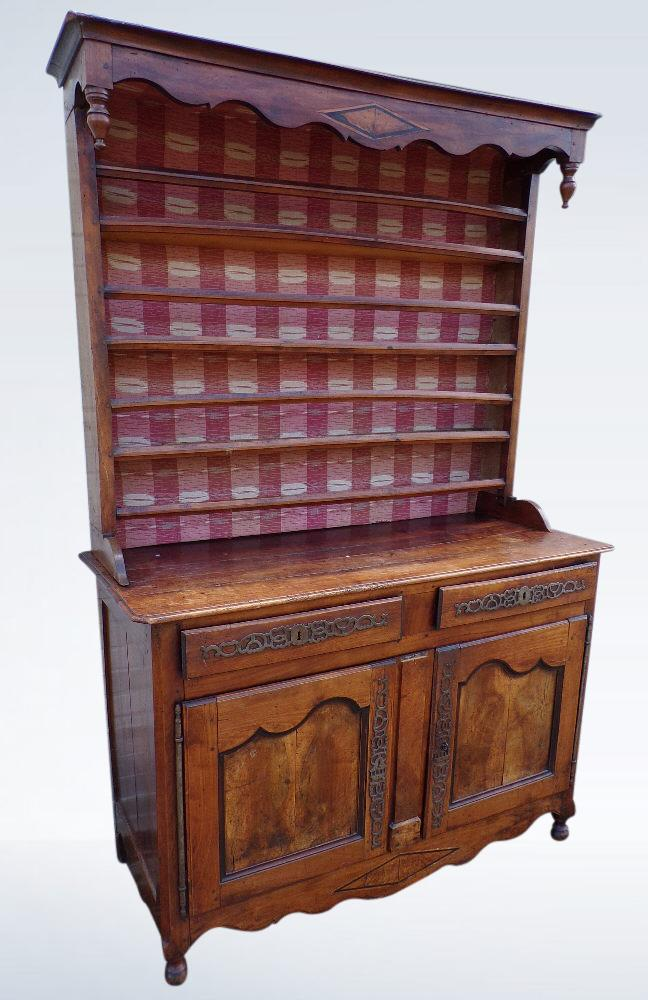 18th Century Antique French Walnut Dresser With Rack