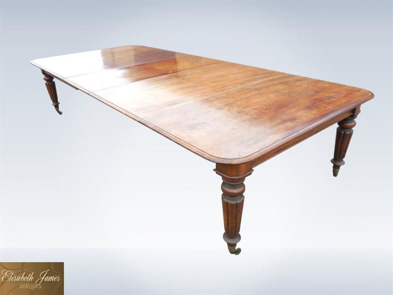 3 Metre Original Antique Regency Extending Mahogany Dining Table