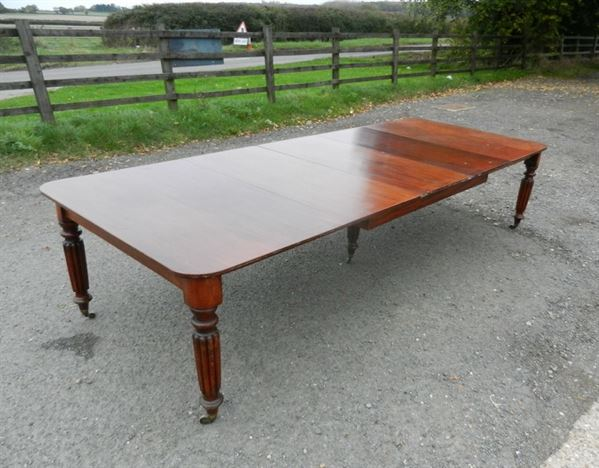 3 Metre Antique Dining Table - 10ft Early 19th Century Late Georgian Extending Mahogany Dining Table