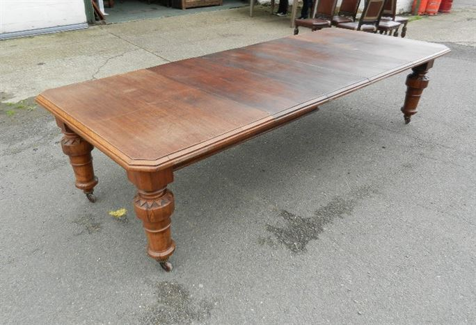 Antique furniture warehouse 3 metre antique oak table for 10ft dining table