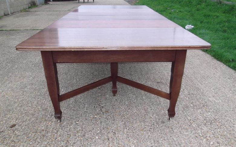 table 10 ft art nouveau mahogany extending dining table to seat 12