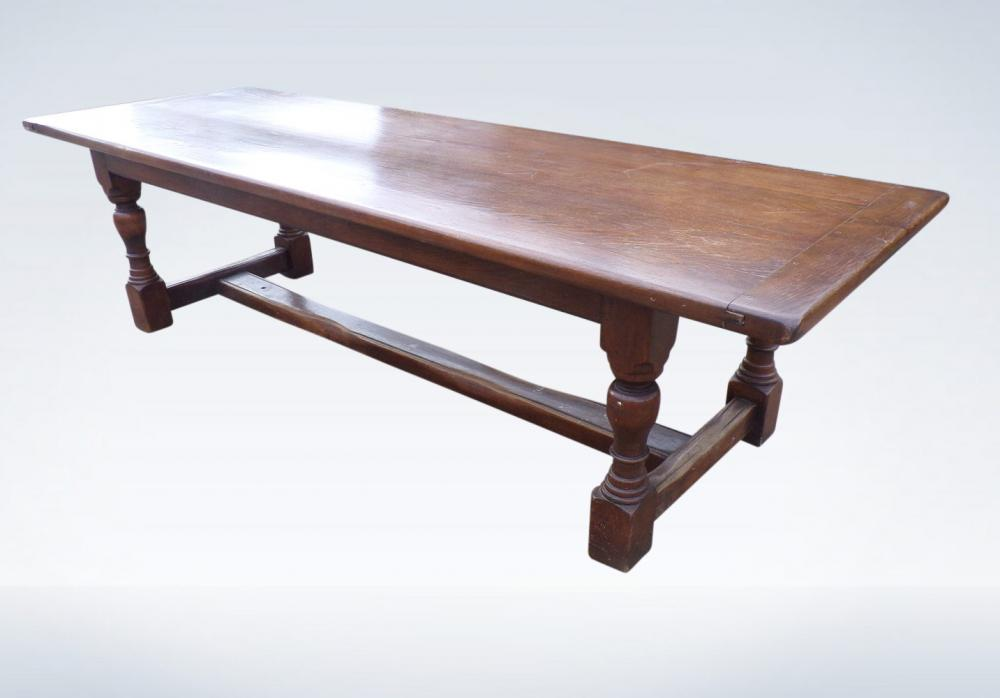 3 Metre AntiqueOak Refectory Table Of Jacobean Influence