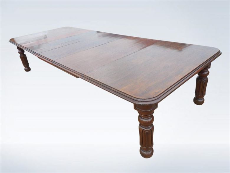 3.5 Metre Antique Victorian Mahogany Wind Out Dining Table