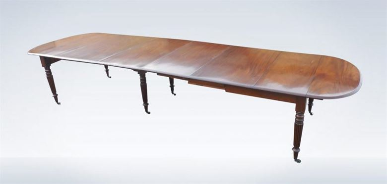 4 Metre Regency Mahogany Extending Dining Table To Seat 14 To 16 People