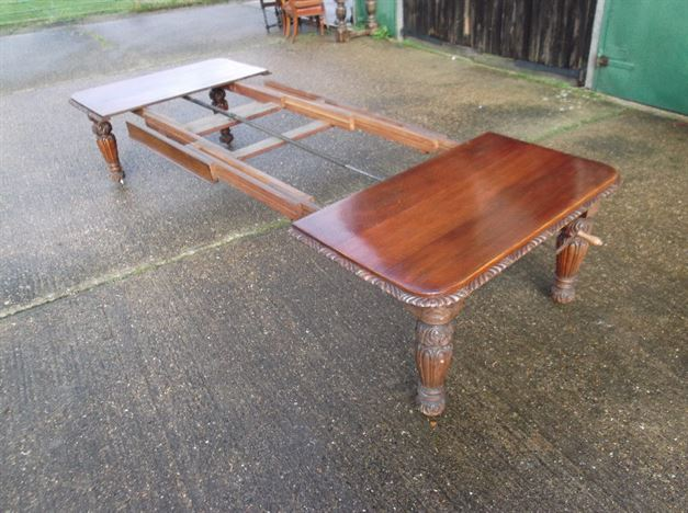 ANTIQUE FURNITURE WAREHOUSE 4 Metre Victorian Oak Dining Table Late 19th