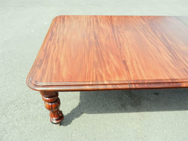 4 Metre Antique Extending Table - Early Victorian 12ft Mahogany Extending Dining Table