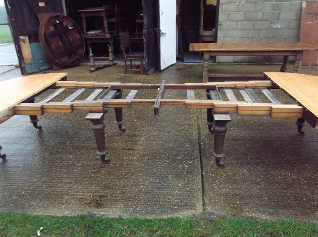 Antique Furniture Warehouse 5 Metre Antique Oak Dining