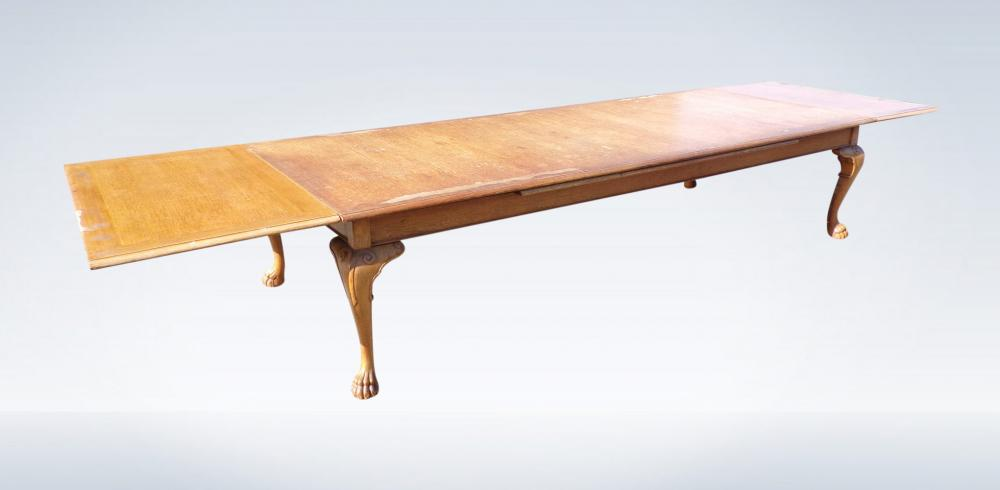 5 Metre Antique Oak Extending Refectory Dining Table