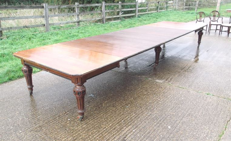 6 Metre Victorian Oak Extending Dining Table - 18 Feet 19th Century Arts & Crafts Oak Extending Dining Table