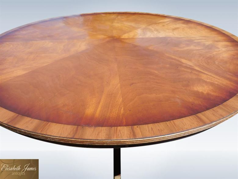 2 Metre 6ft Large Round Antique Mahogany Dining Table