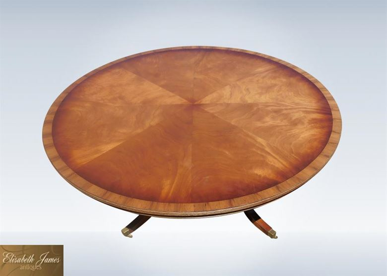 Antique furniture warehouse 6ft diameter round antique for 6 foot round dining table