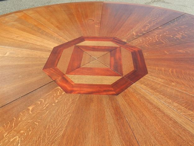 8ft Diameter Antique Round Table - 2.4 Metre Round Late Victorian Arts & Crafts Round Dining Table