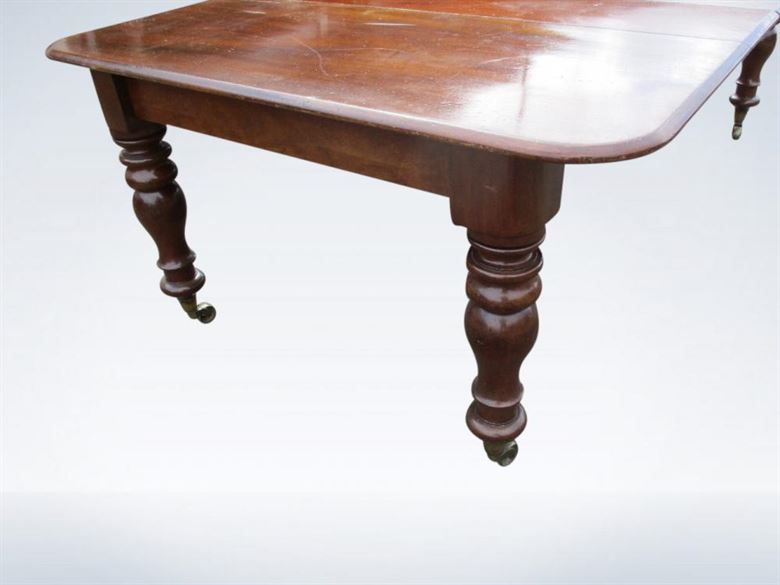 8ft Early Victorian Mahogany Antique Extending Dining Table