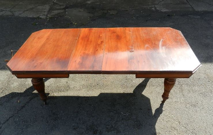 8ft Victorian Extending Table   Late 19th Century Walnut Extending Wind Out  Dining Table