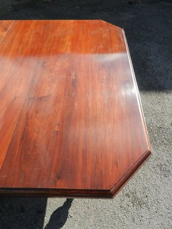 8ft Victorian Extending Table - Late 19th Century Walnut Extending Wind Out Dining Table
