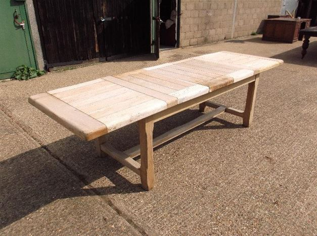 8ft Antique Oak Refectory Table Arts Crafts