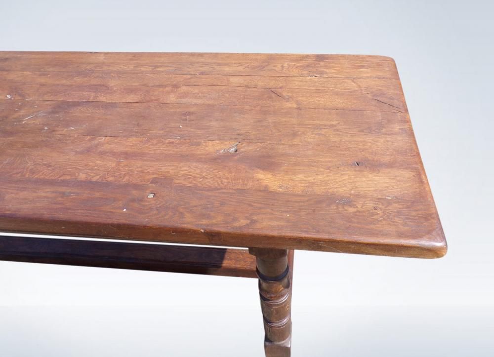 8ft Antique Refectory Table In Oak Jacobean Revival