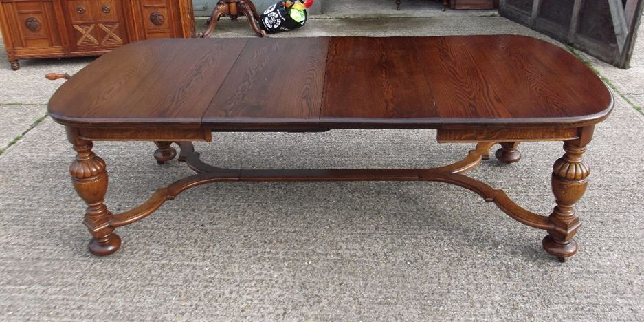 Antique Furniture Warehouse 8ft French Oak Dining Table