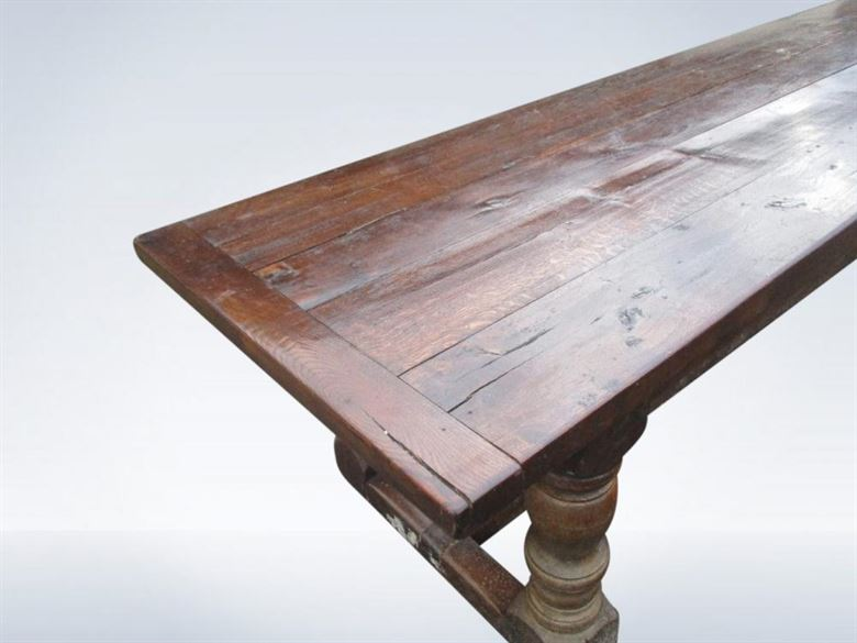 9ft Antique 19th Century Oak Refectory Table