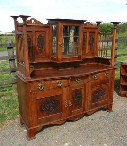 Arts Crafts Oak Sideboard - Large Late Victorian Oak Sideboard Of Liberty's Arts Influence