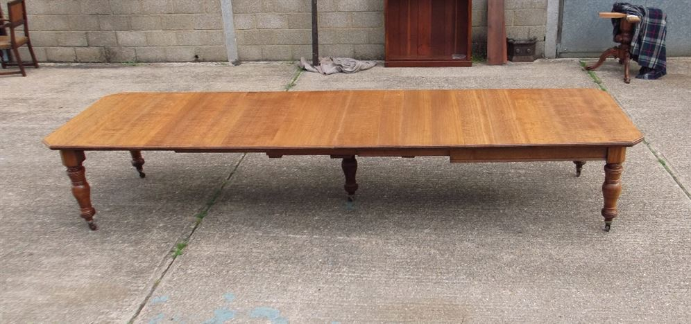 antique extending dining table by famous london makers maples co