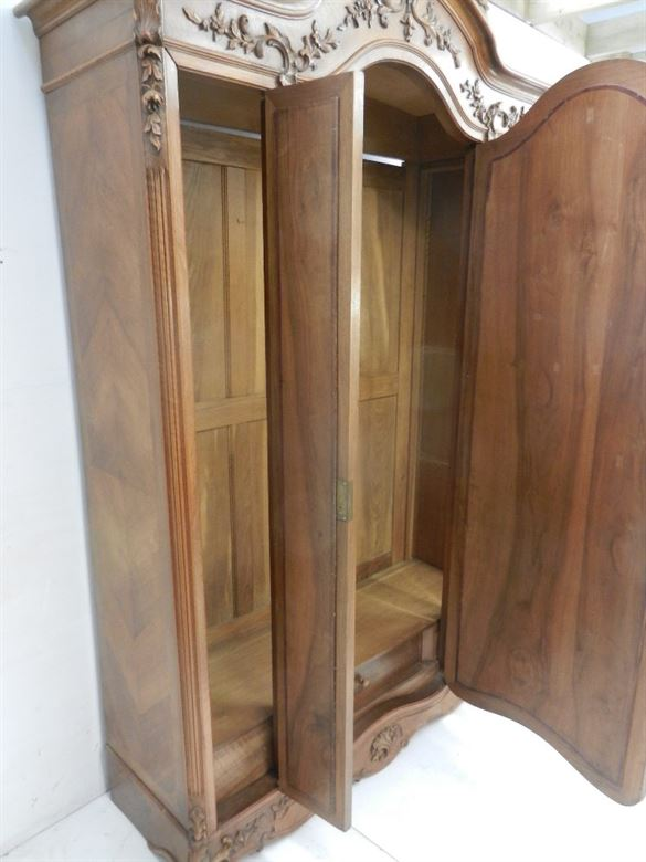 Beautifully Proportioned And Decorated French Walnut Wardrobe Armoire