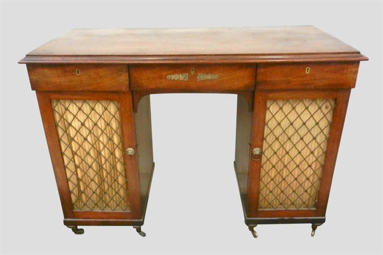 Charming Regency Period Small Proportioned Antique Mahogany Sideboard Cabinet