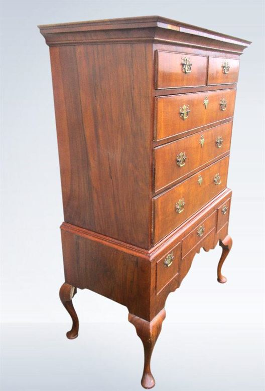 Early 18th Century Queen Anne Walnut Chest On Stand