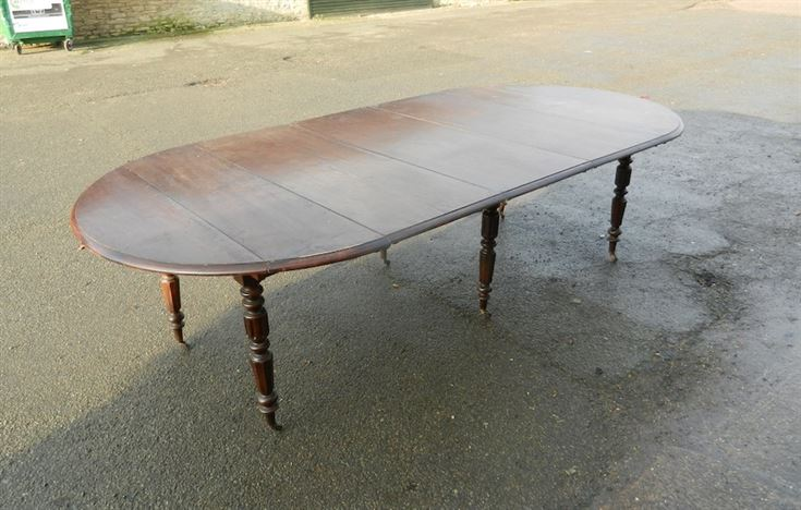 oak table 9ft round formed drop leaf extending oak dining table
