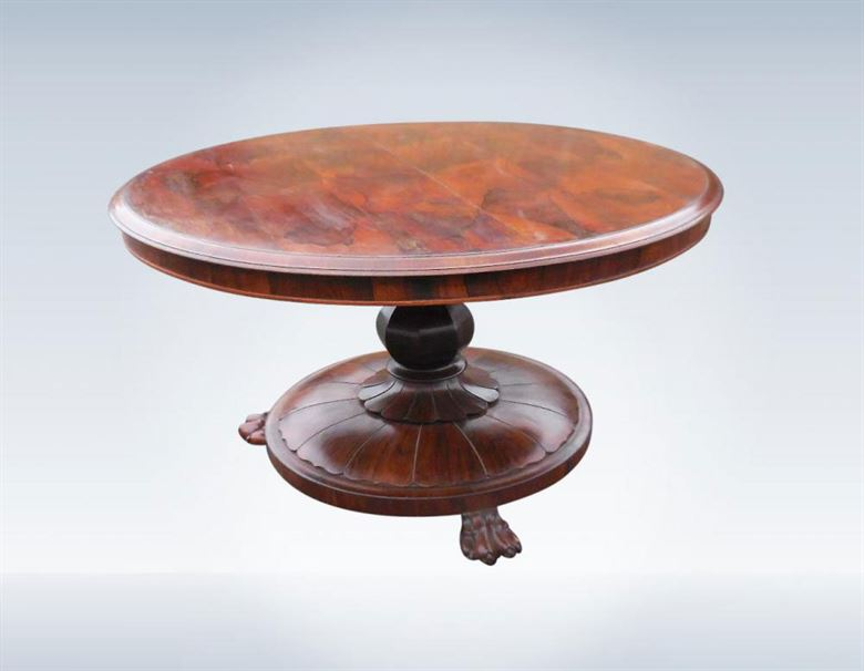 Fine Large Round Antique Regency Period Round Rosewood Dining Breakfast Table To Seat 6 People