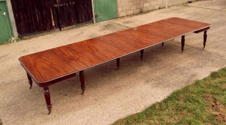 Genuine Masterpiece Stately Home Sized Original 16ft Mahogany Dining Table