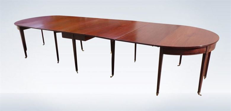 George III Period 14ft Antique Mahogany Extending Dining Table
