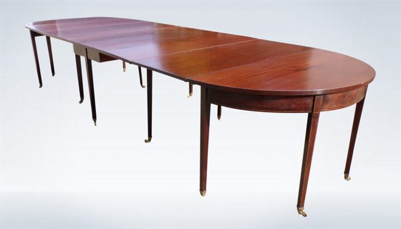 George III Period 14ft Mahogany Extending Dining Table