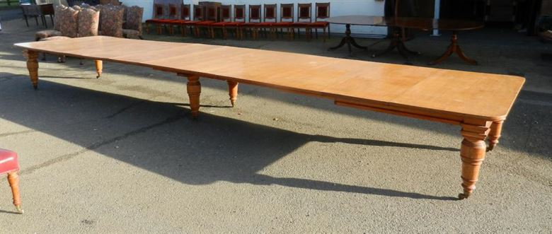 Huge Late 19th Century 22ft Victorian Antique Oak Dining Table
