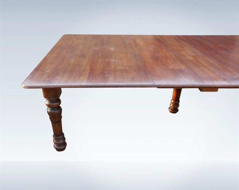 Huge Late Victorian 18ft Oak Extending Dining Table