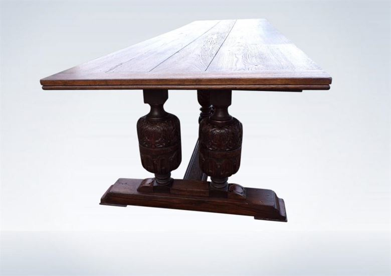 Huge Victorian Jacobean Oak Refectory Grand Hall Banqueting Table
