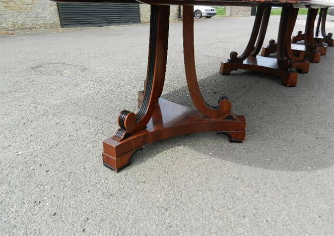 Large 6 Metre Antique Table - 20ft Vintage Regency Mahogany Boardroom Dining Table