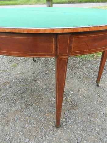Large Georgian Card Table - Late 18th Century Sheraton Period Mahogany Gaming Table