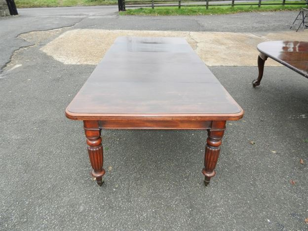 Large Georgian Mahogany Table - 10ft George IV Mahogany Extending Dining Table