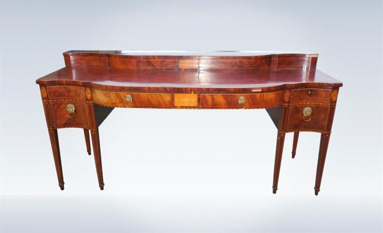 Large Original Regency Period Georgian Mahogany Server Console